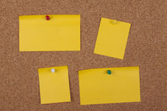 Notes On Cork Board Stock Photography