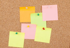 Notes On Cork Board Royalty Free Stock Photo