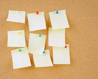 Notes on corkboard Stock Photography