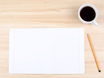 Notes and cup Stock Image