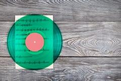 Notes d'enregistrement et de musique de vinyle image stock