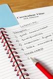 Notes d'entrevue et cv Photo libre de droits