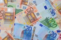 notes d'euro de côté Photo stock