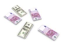 notes d'euro du dollar illustration libre de droits