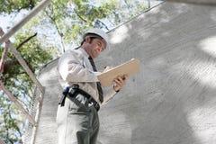 Notes d'inspecteur des bâtiments Photos libres de droits