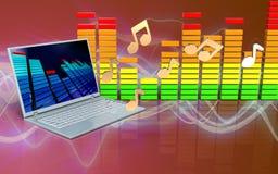 notes d'ordinateur portable 3d Images stock