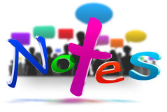 Notes 3D Stock Images