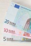 Billets de banque d'euro. Image stock