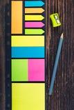 Notes de bâton Photographie stock
