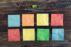 Notes de bâton Photo stock