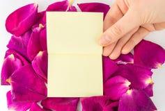 Notes de bâton sur le cadre floral Photographie stock