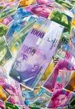 Notes de franc suisse image stock
