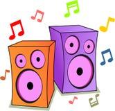 Notes de haut-parleur et de musique Photo stock