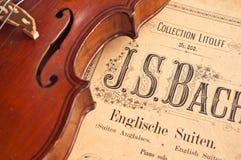 Violon allemand du 19ème siècle. Photos stock