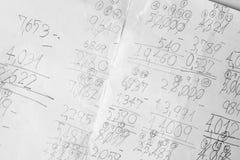Notes de maths Photographie stock libre de droits