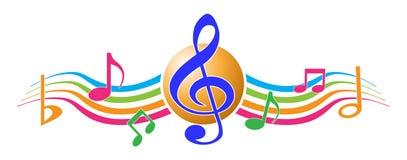 Notes de musique Photo stock