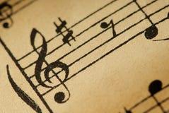 Notes de musique photos stock