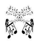 Notes de musique illustration de vecteur