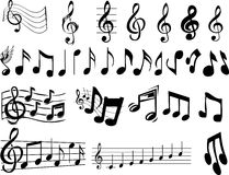 Notes de musique illustration de vecteur