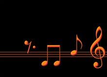 Notes de musique d'or photographie stock