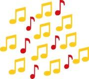 Notes de musique dans deux couleurs illustration stock