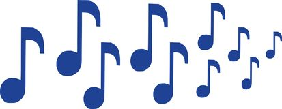 Notes de musique dans une rangée illustration de vecteur