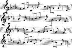 notes de musique de fond Photo stock