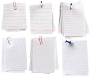Notes de papier Photo stock