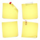 Notes de papier Photos libres de droits