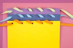 Notes de papier colorées Image libre de droits