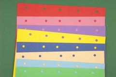 Notes de papier colorées Photo libre de droits