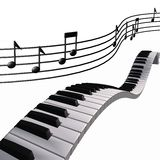 Notes de piano de musique dans le ciel Image libre de droits