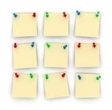 Notes de post-it Images stock