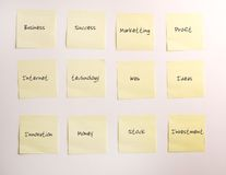 Notes de post-it Photographie stock