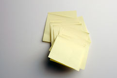Notes de post-it Photos stock