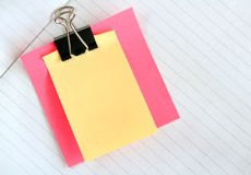 Notes de post-it Photos libres de droits