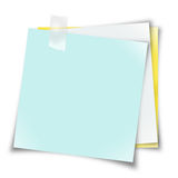 Notes de post-it blanc Photographie stock