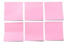 Notes de post-it blanc Images stock