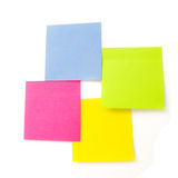 Notes de post-it blanc Images libres de droits