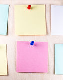Notes de post-it de papier vides Image stock