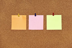 Notes de post-it multicolores Photo stock