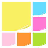 Notes de post-it réglées Photo stock