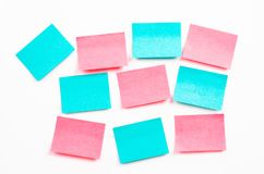 Notes de post-it vides ou note collante Photos stock