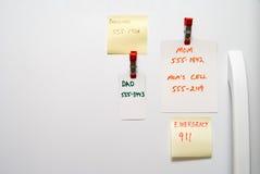 Notes de réfrigérateur images stock