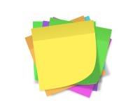 Notes de rappel Images libres de droits