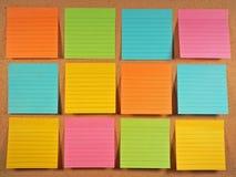 Notes de tableau d'affichage Images stock
