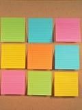 Notes de tableau d'affichage Photo stock