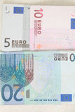 The Euro on the table. Stock Photography