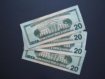 Notes des 20 dollars, Etats-Unis Images stock