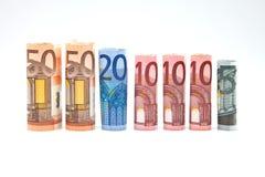 Notes des euros Image libre de droits